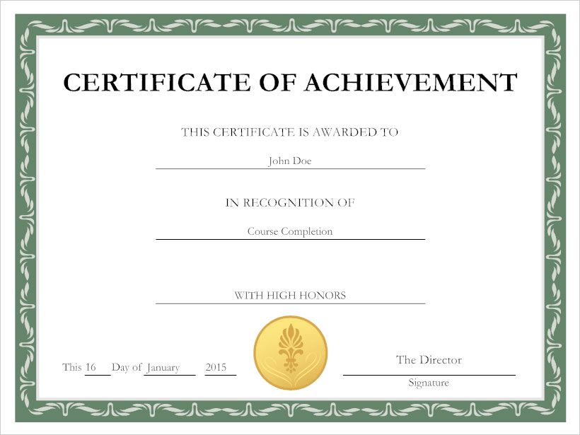 Make Your Own Certificates Of Achievement.Certificate Maker Free ...