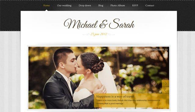 25 Premium Wedding Website Templates for Inspiration