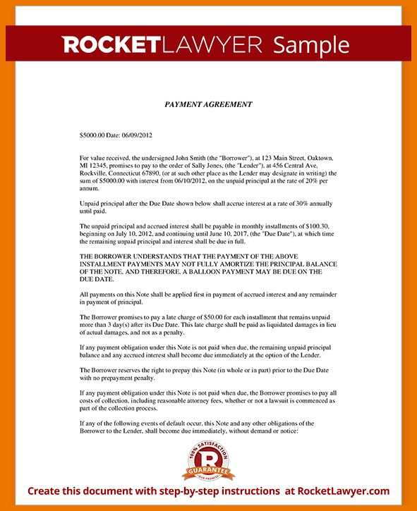 6+ payment agreement template | assistant cover letter