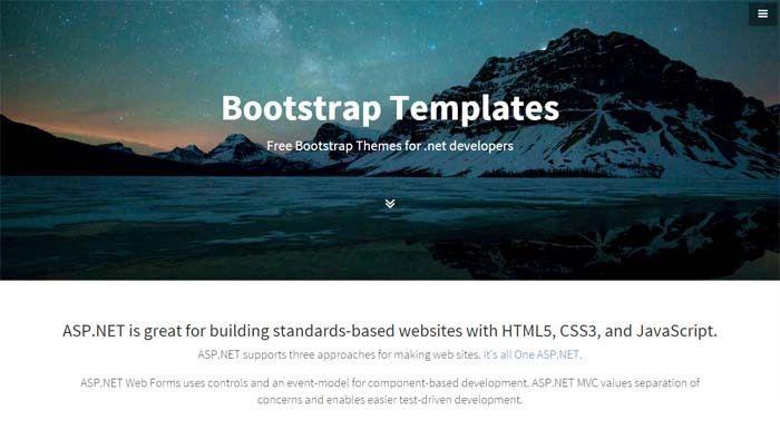 Free Bootstrap Templates | aspxtemplates