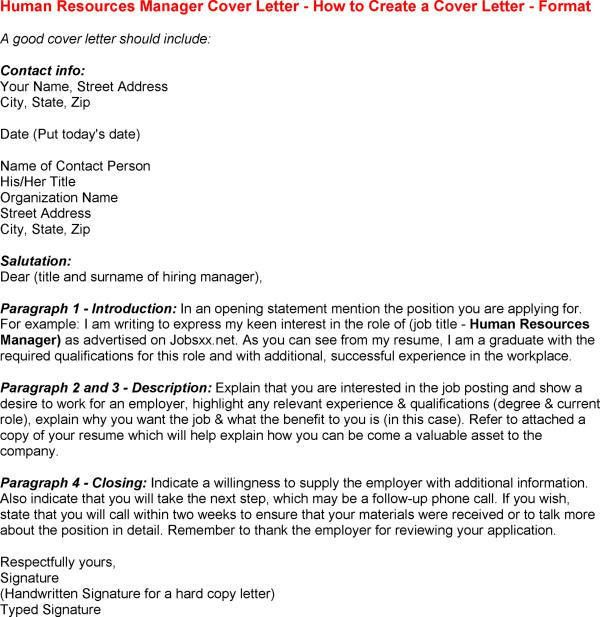 Human Resource Manager Cover Letter Cover Letter Examples For ...