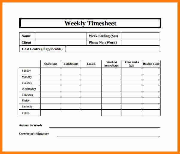 Ledger Paper Template. Weekly Timesheet Template - 8+ Free ...