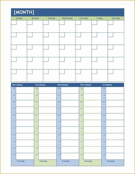 6+ weekly calendar template word | Outline Templates