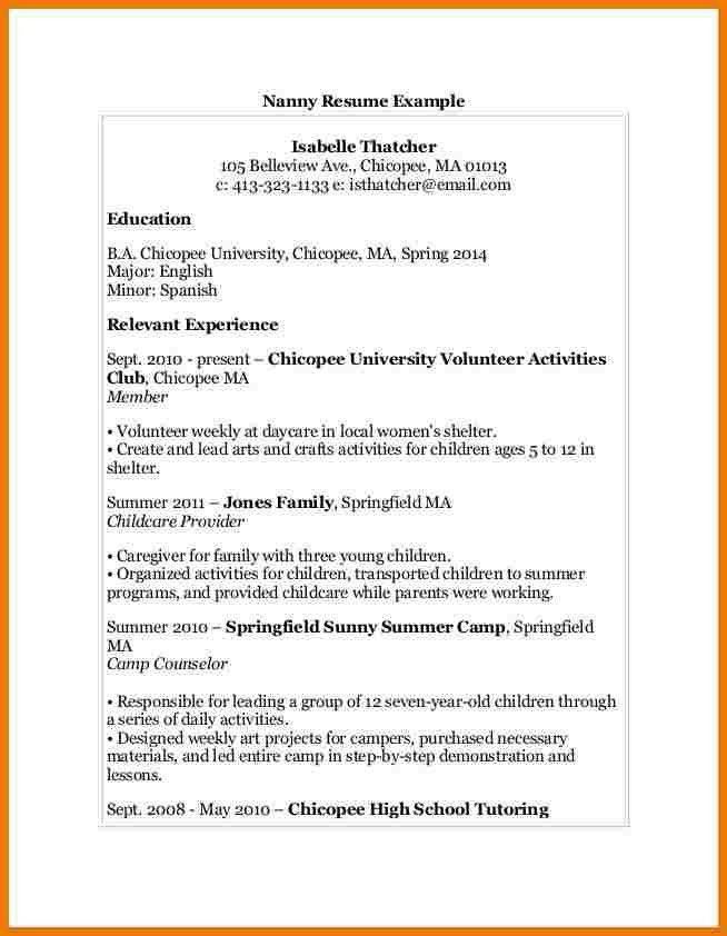 6+ nanny resume examples | assistant cover letter