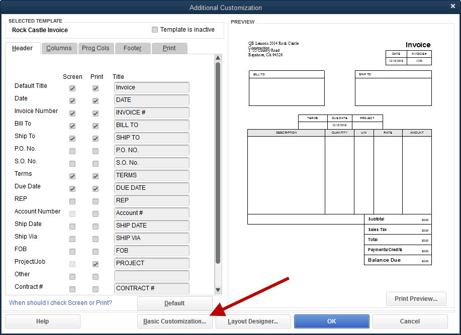 Adding the Company Phone Number to an Invoice Template ...