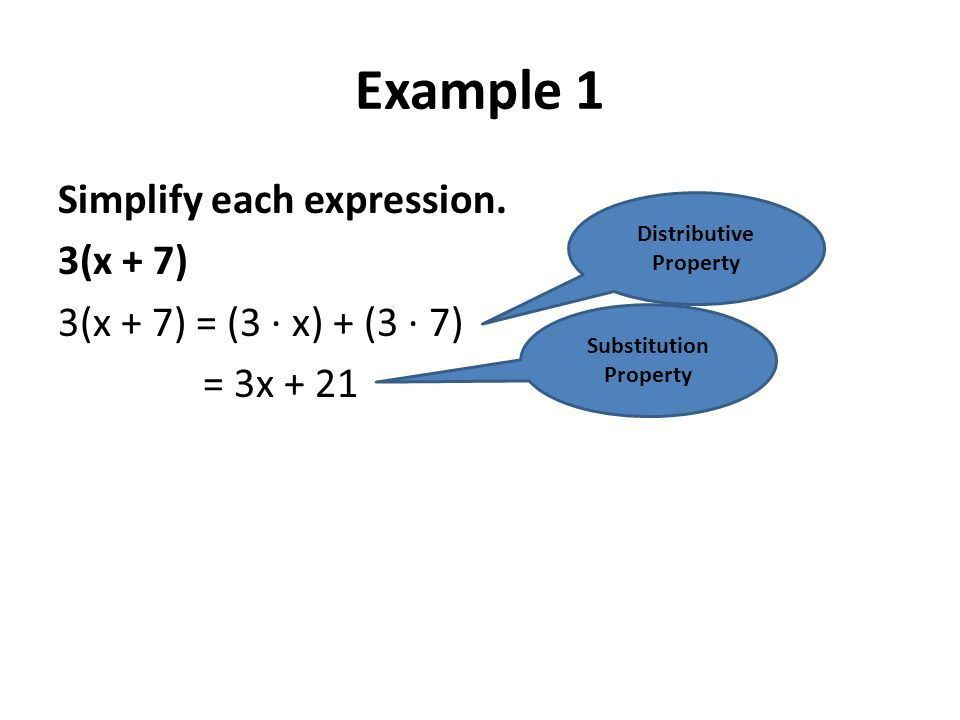 Chapter 1 Section 4 Distributive Property. Symbols: For any ...