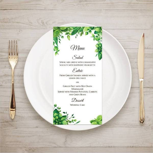 9+ Garden Party Menu - Designs, Templates | Free & Premium Templates