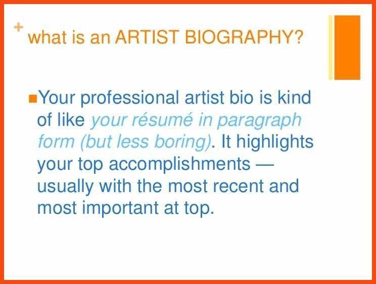 artist bio sample   program format