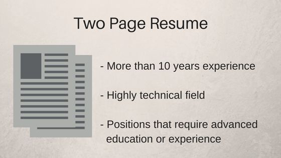 How Long Should Your Resume Be in 2017? - ZipJob