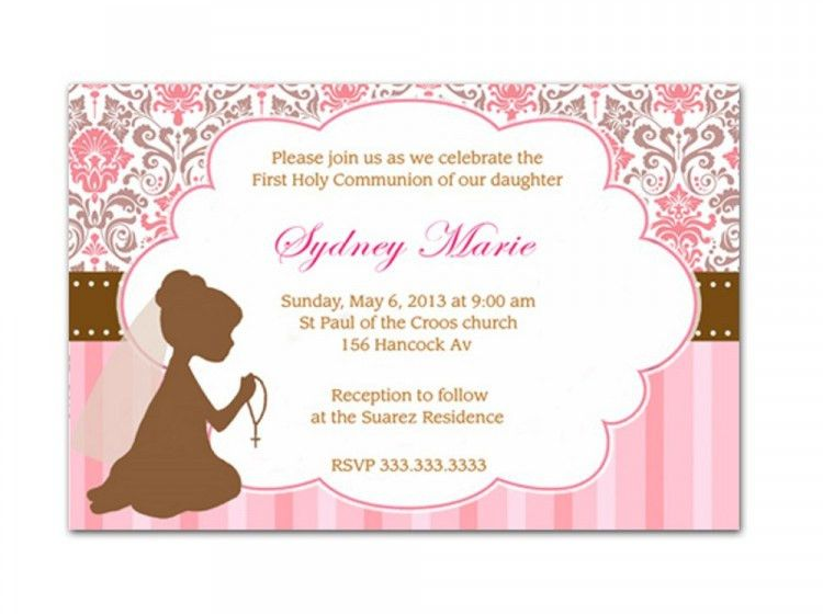 First Communion Invitations For Girls | almsignatureevents.com