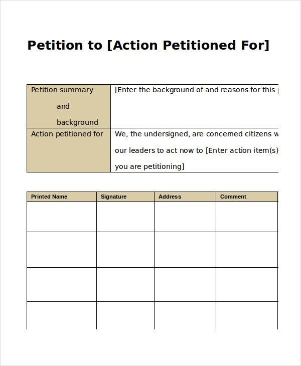 5+ Petition Templates - Free PDF, Word Documents Download | Free ...