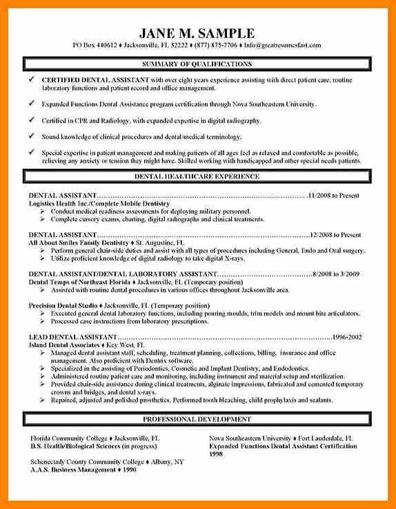 dental assistant resume examples dental assistant resume sample
