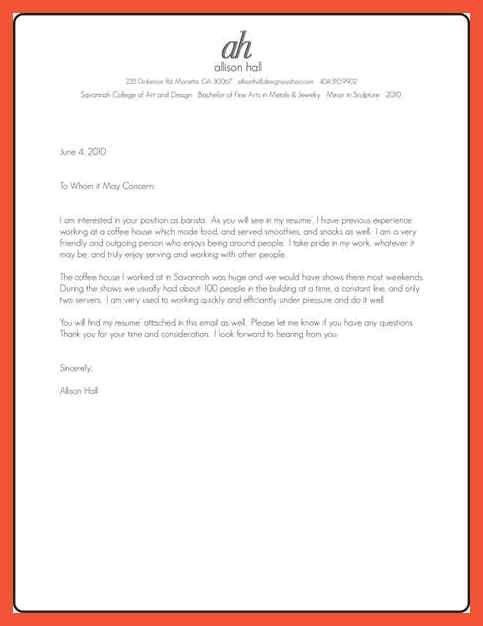 barista cover letter hospitality aide cover letter 76 cover - Barista Cover Letter