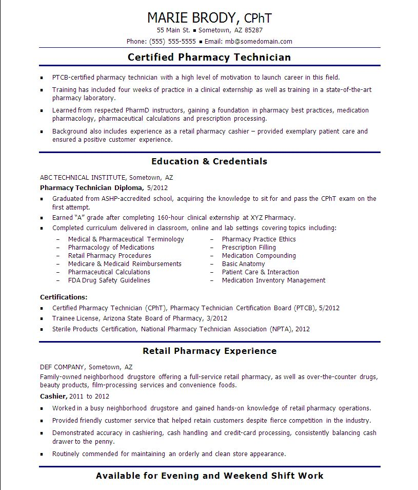 Wonderful Design Pharmacy Technician Resume Skills 4 General ...