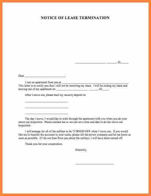 8+ termination of rental agreement letter by tenant | Purchase ...