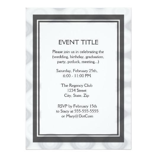 Fast and Easy Blank Template 6.5×8.75 Paper Invitation Card ...