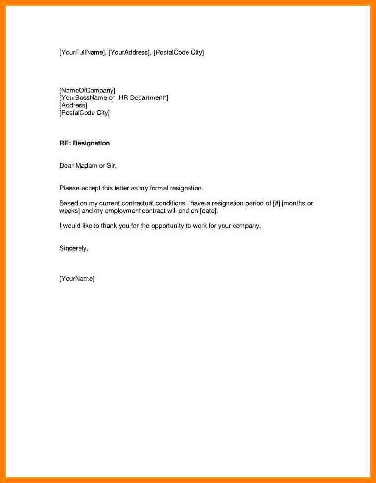 6+ letter of resignation samples | nanny resumed