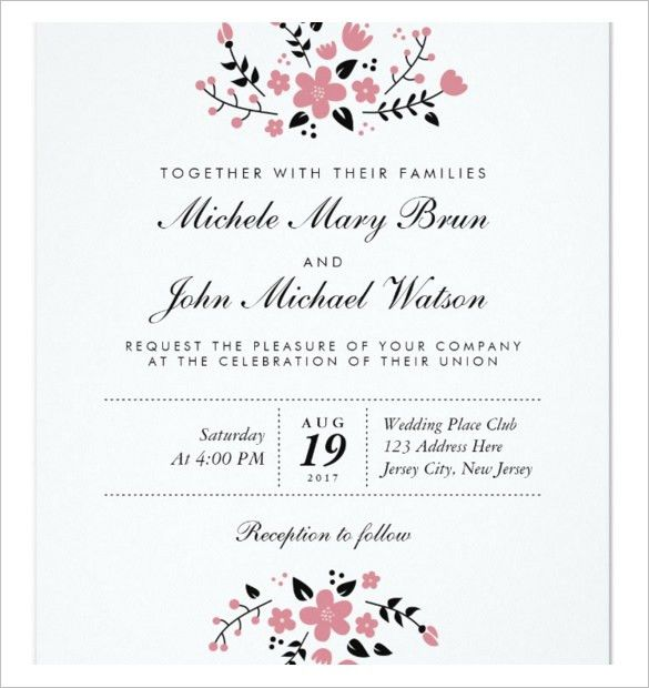 Free Printable Wedding Invitation Templates For Word | badbrya.com