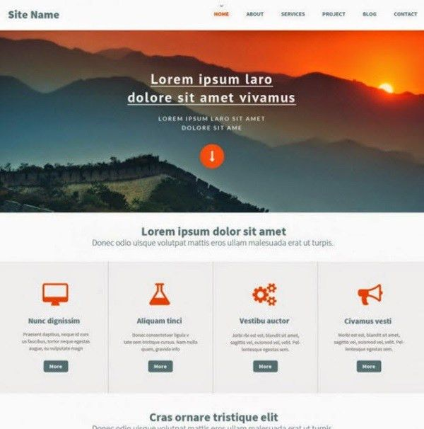 20 Best Free PSD Website Templates to try this year | Web Design Burn