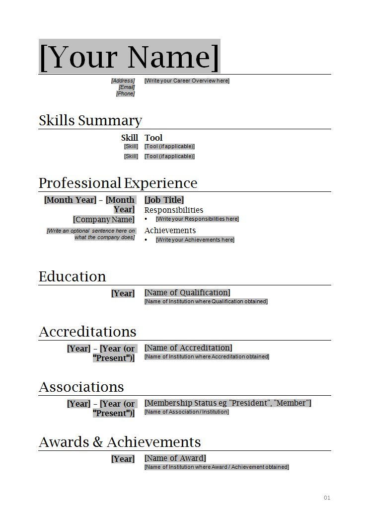 free resume templates free resume templates download for microsoft ...