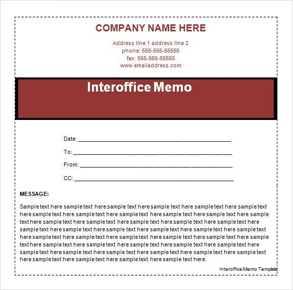 Interoffice Memo Templates   5+ Download Free Documents In PDF , Word  Inter Office Communication Letter