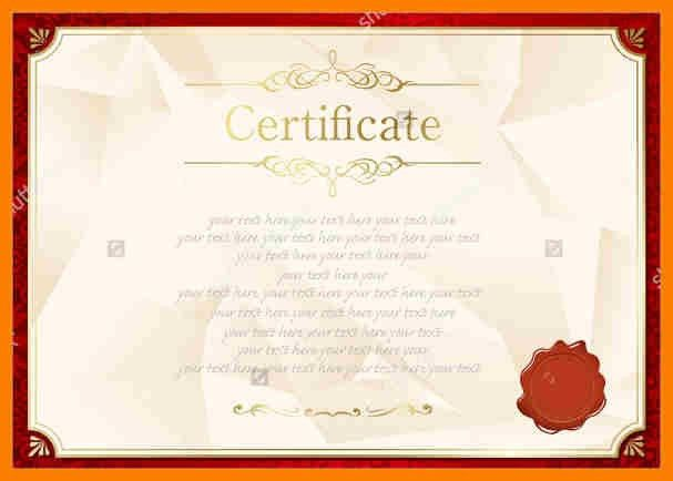 8+ certificate template blank   science-resume