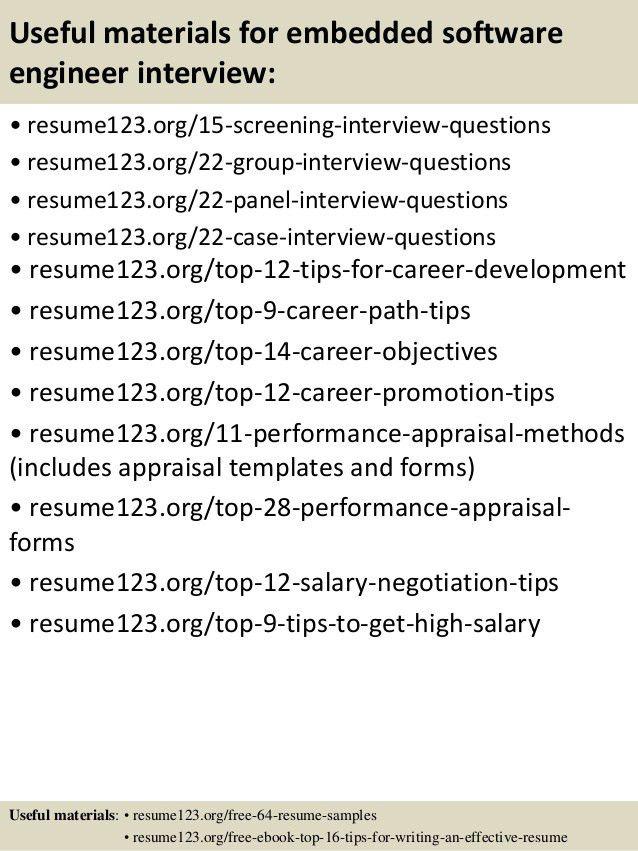 software resume objective software engineer resume sample