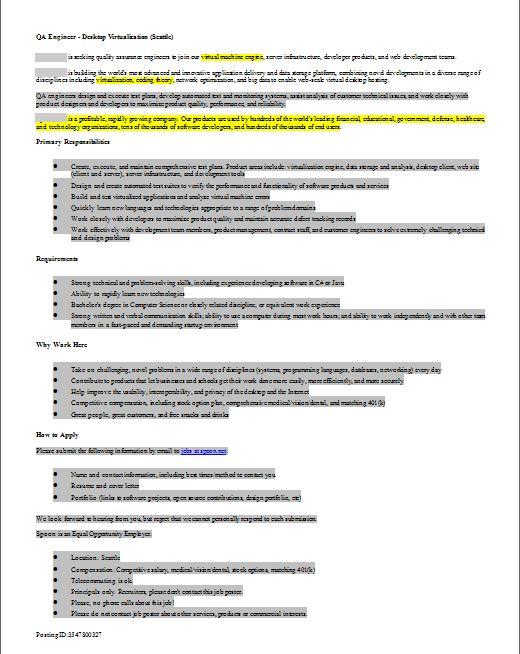Job Description Review by Developers - QA Engineer   Geekology Blog