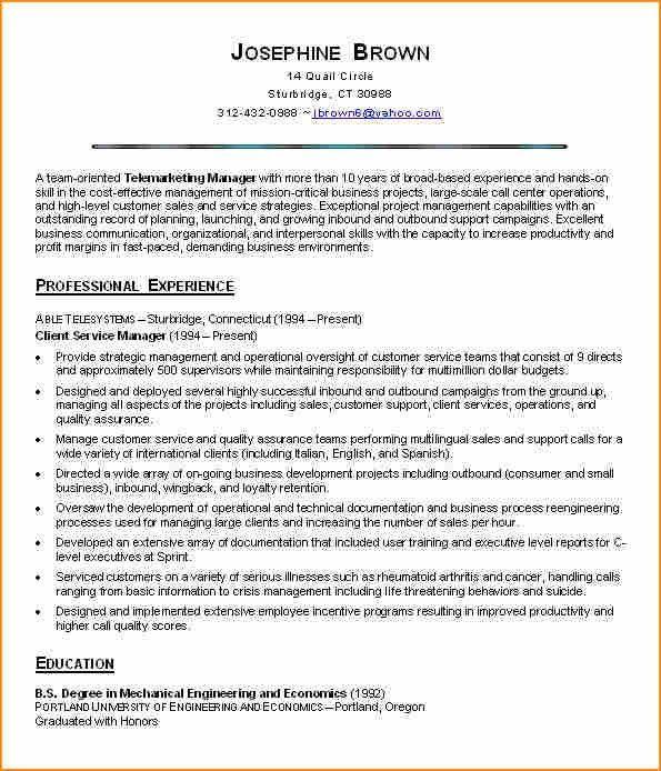 8+ resume sample cover letter customer service - Basic Job ...