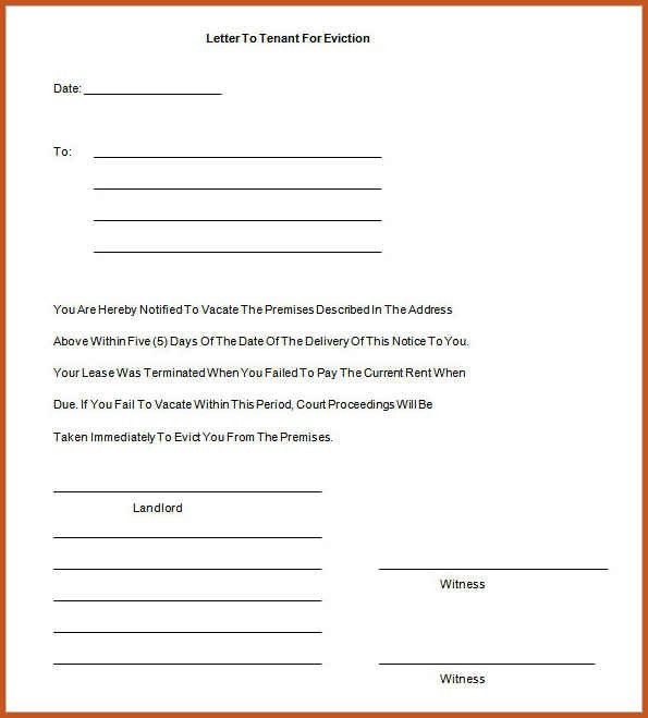 Eviction Notice Template | Sop Example