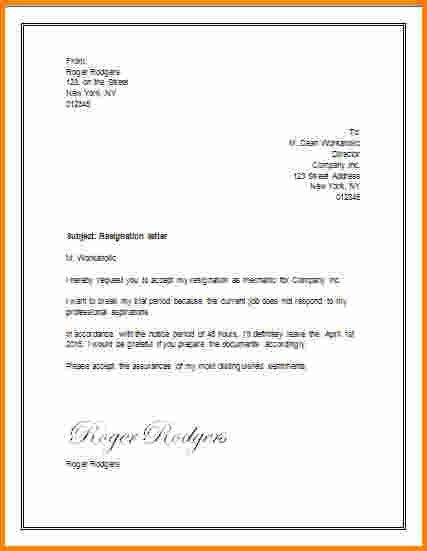 5+ resignation letter template word | memo templates