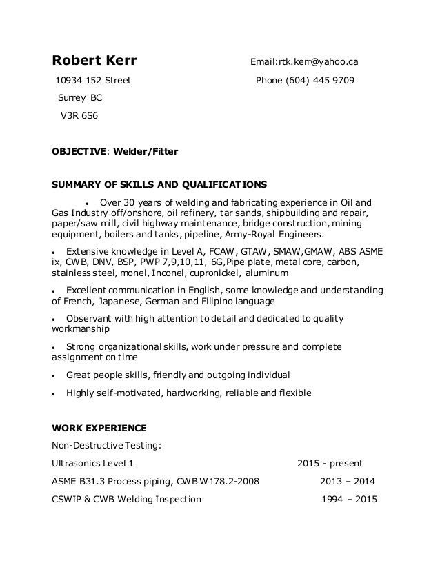 Shipyard Welder Cover Letter