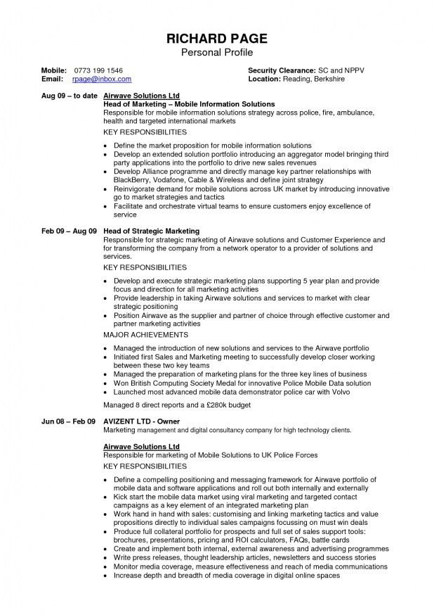 Personal Profile Resume | The Best Resume