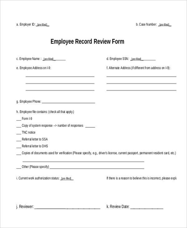 Employee Referral Form. Employee Referral Form A4 ~ Templates ...