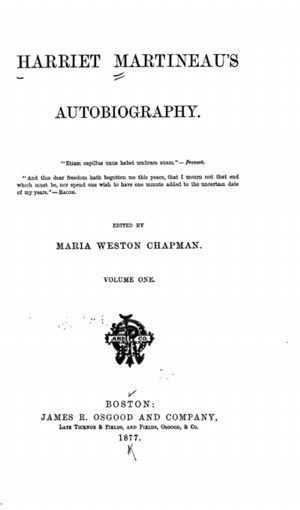 Harriet Martineau's Autobiography, 2 vols. - Online Library of Liberty