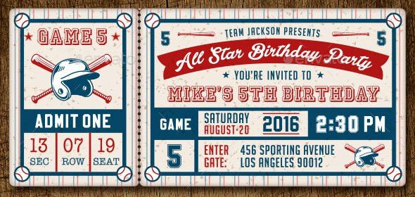 25 Awesome Ticket Invitation Design Templates | Web & Graphic ...