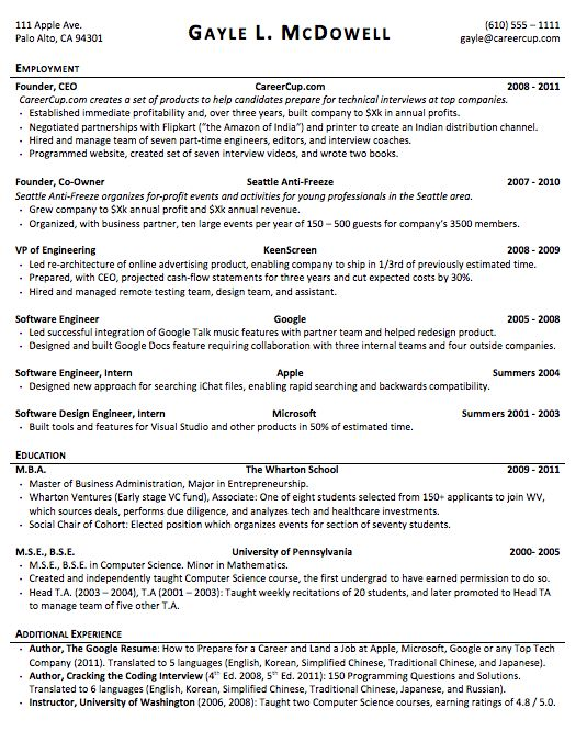 Résumé and CV writing - Quora