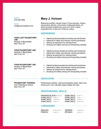 phlebotomist resume examples | sop examples