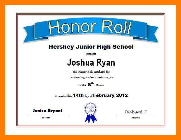9+ certificate of honour format | teller resume