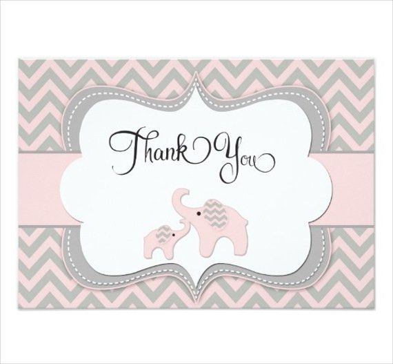 8+ Baby Shower Thank You Cards - Design, Templates | Free ...