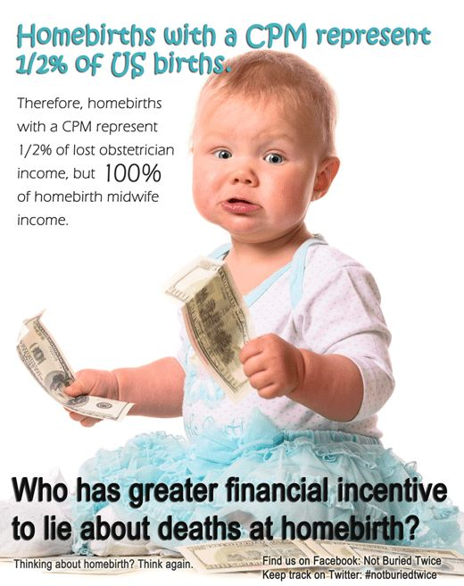 Who has the greater incentive to lie about deaths at homebirth ...