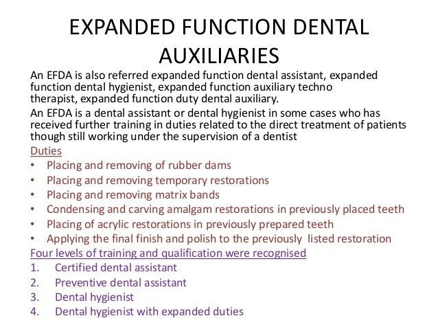 Dental auxillaries