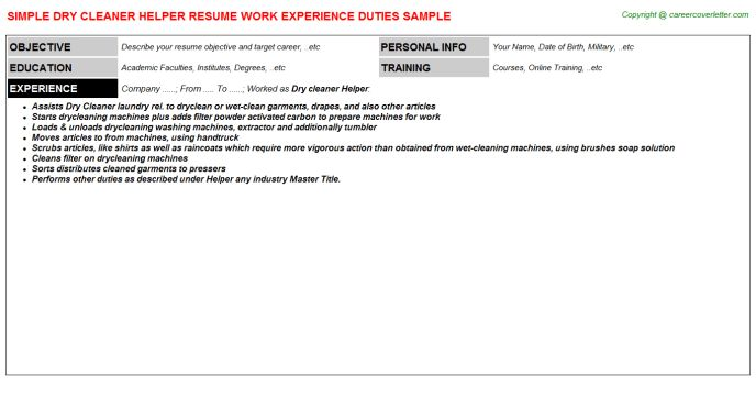 Resumes Samples For Jobs
