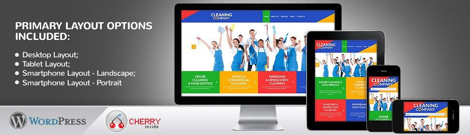 Website Template #51991 Cleaning Company Services Custom Website ...