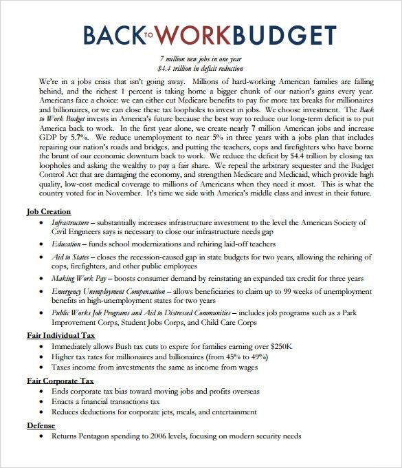 Sample Work Proposal - 5+ Documents in PDF, Word