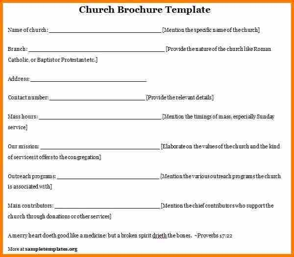 7+ church program template | resume reference