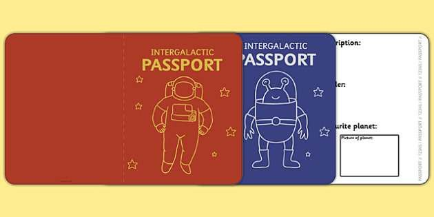 Space Passport Template - Passport, space, intergalactic