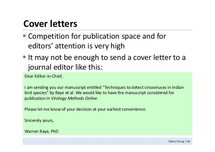 Cover letter journal dear editor