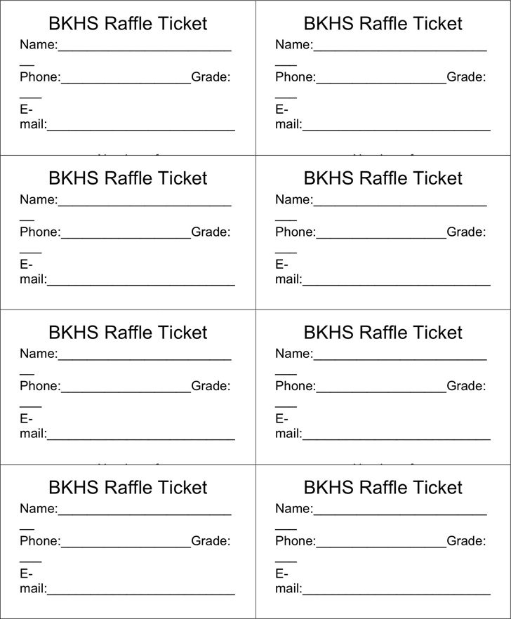 raffle ticket template printable