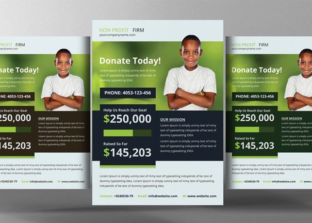 Church Charity Donation Flyer Template | Inspiks Market